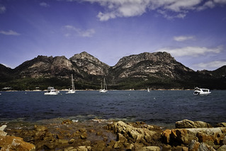 Mt Amos and Mt Mayson, seen from Coles Bay #3 | by Tasmanian.Kris