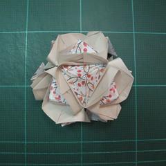 วิธีการพับลูกบอลกระดาษญี่ปุ่นแบบโคลเวอร์ (Clover Kusudama)019