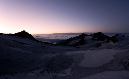 stubai stubital alps austria austrianalps tyrol botzel glacier snow ice sunrise übeltalferner pink purple