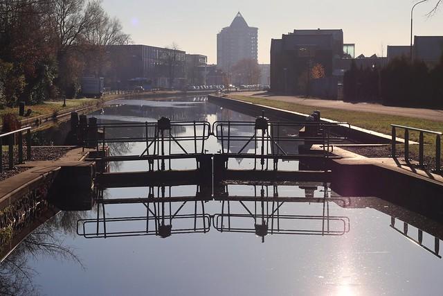 Apeldoornse sluis (lock) on a beautiful autumn day