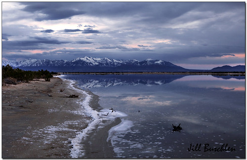 Salt Lake Utah at dusk