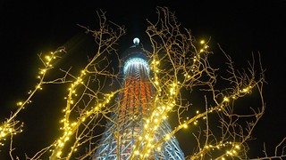 Tokyo Skytree and Christmas lights | by Manish Prabhune