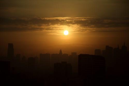 sunrise dawn philippines manila