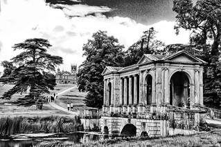 Palladian Bridge and Gothic Temple, Stowe, Buckinghamshire
