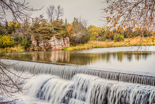 outdoor water waterfall landscape autumn river park