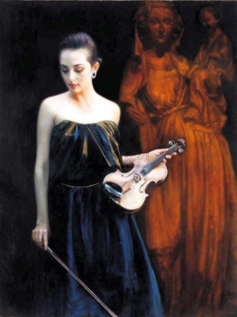 Chin Yifei (1946-2005) - The Violinist (Christie's Hong Kong, 2012)