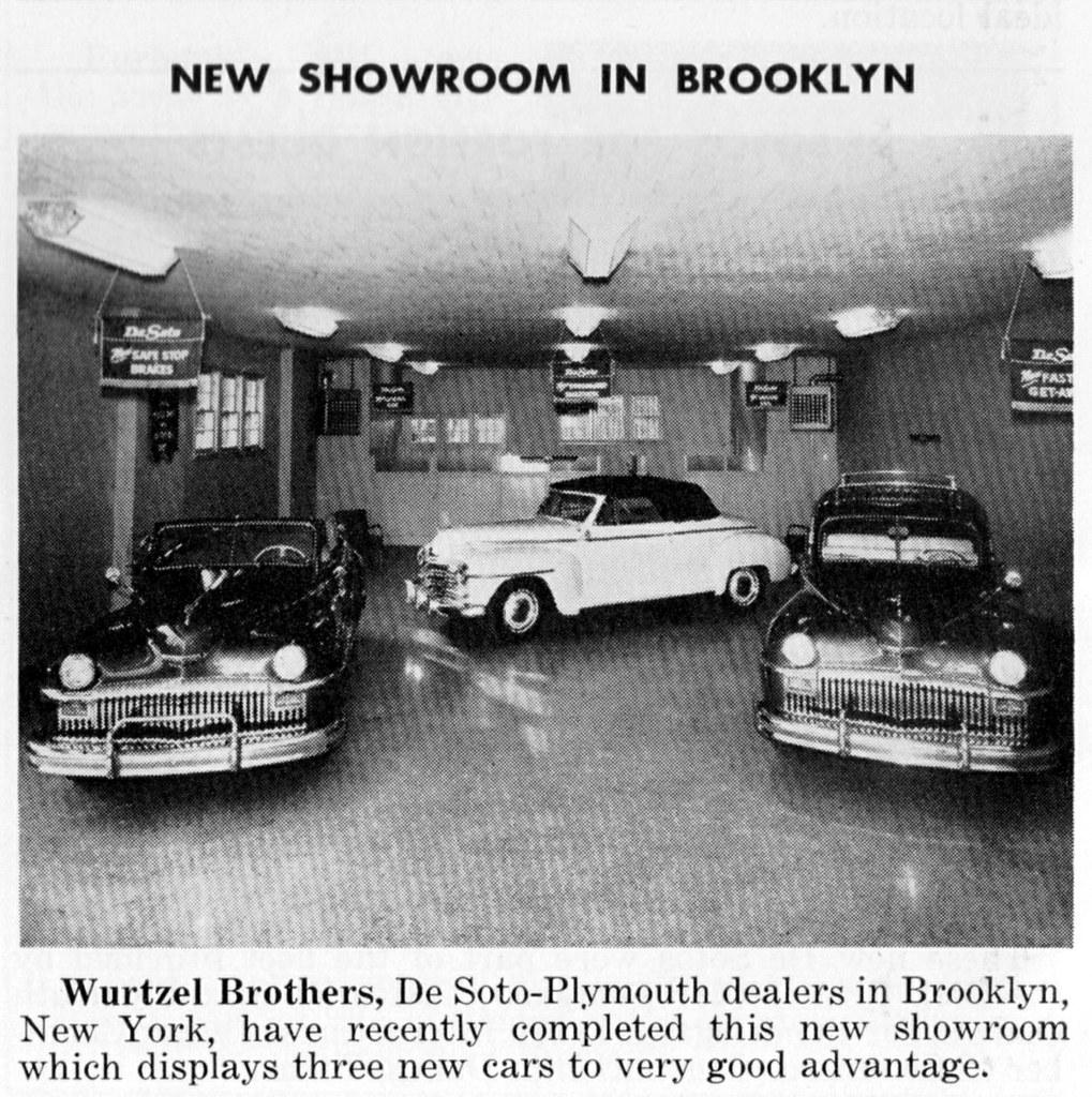 Car Dealerships In Brooklyn >> Wurtzel Brothers Desoto Plymouth Brooklyn Ny 1947 Flickr