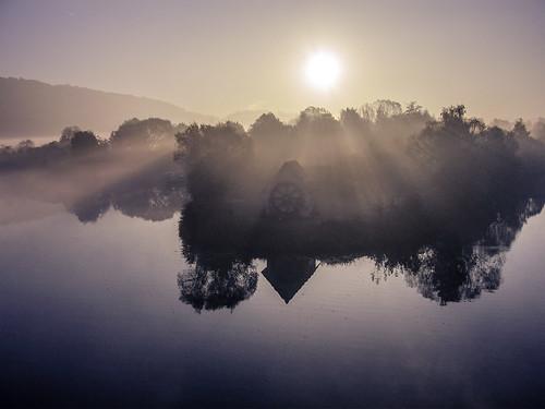 fog sunrise germany deutschland europa europe day allemagne saarland sarre img2290