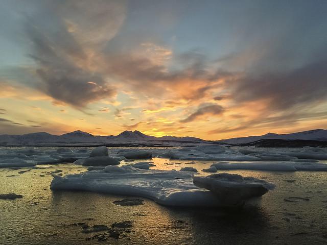 February sunset Tromsø
