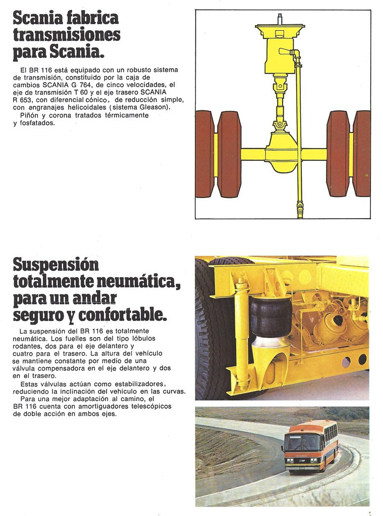 1979 Scania BR 116 from Argentina | Eight page brochure repr