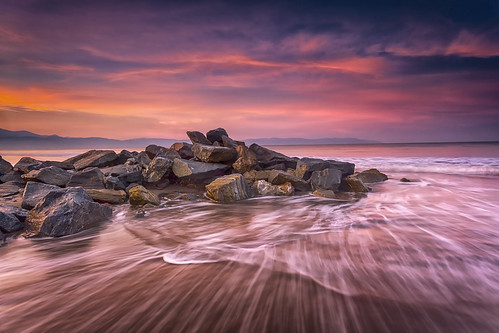 sunrise beach waves water ocean pacific motion sky nature longexposure travel mexico rivieranayarit puertovallarta atadecer rocks jetty breakwater clouds landscape waterscape sliderssunday