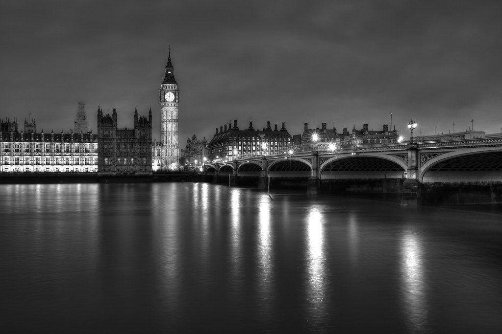 Last Night in London (B&W)
