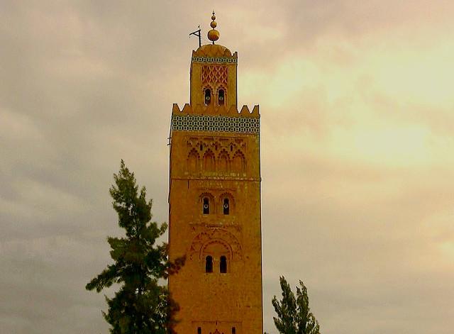 Marokko , Marrakesch ,Minarett der Koutoubia-Moschee , 10-4/11284