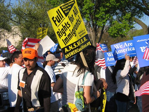 April 10 Immigrants Rights Protest | by Wayan Vota