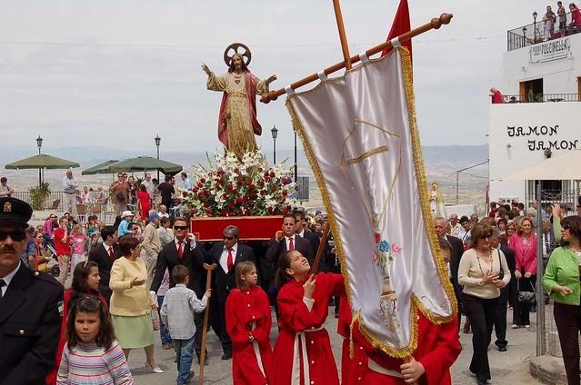 The final procession of semana santa at Mojacar