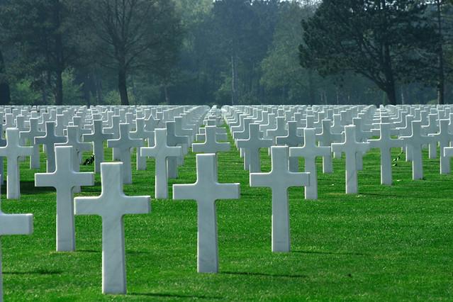 Omaha Beach WW2 Cemetery   Normandy Landing Beaches - April
