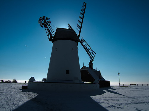 Lytham windmill in the snow | by Andy Hay