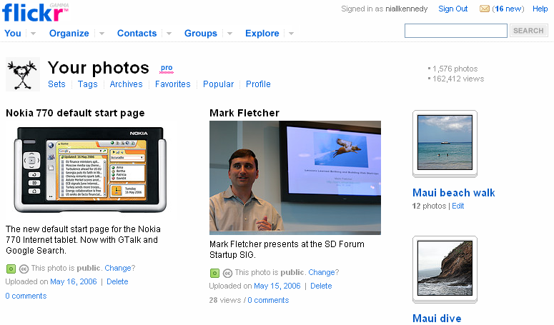 Flickr gamma design