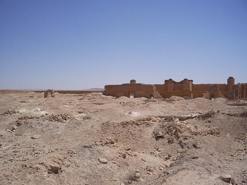 The wide courtyard at Qasr al-Heir al-Sharqi | by Neil and Kathy Carey