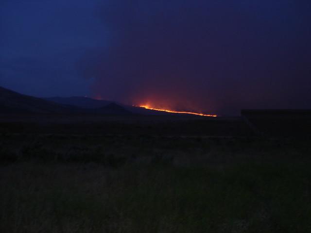 Wildfire after dark