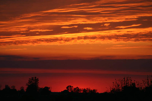 sunset red orange skyline kentucky maysville themered