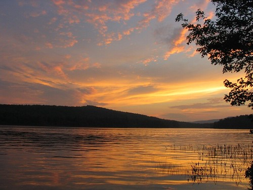 sunset lake water sundown newhampshire nh pemigewasset powershota70 lakepemigewasset