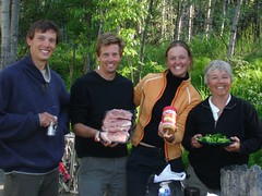 Dinner with Philippe and Miriam - new friends who rode from Ushuaia