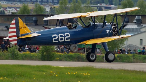 Boeing Stearman A75N1 N2S-4 Kaydet 55715 at Kjeller Air Show 2015 | by J.Comstedt