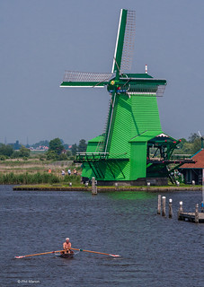 Rowing by the windmills in Zaandam, Holland | by Phil Marion