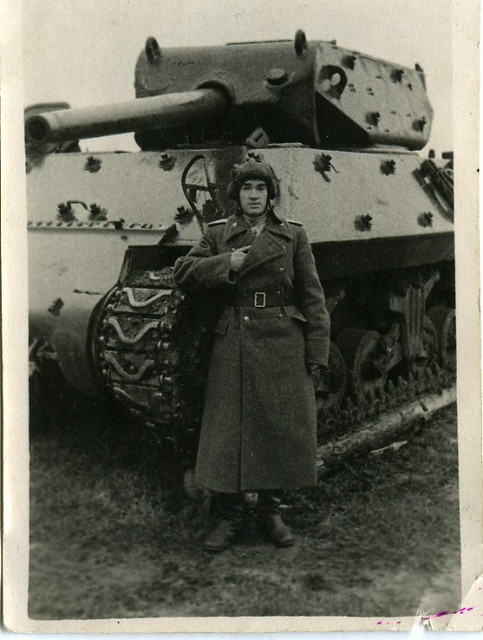 M10 tank destroyer of the 1223rd Self-Propelled Artillery Regiment