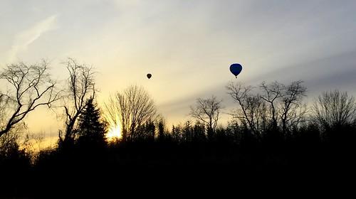 hot air balloons new jersey nj readington whitehouse station winter morning sunrise