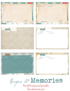 free-printable-vintage-recipe-cards-printable | by ahensnest