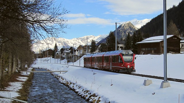 Winterstimmung in Davos (Schweiz) 18. November 2013