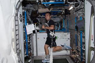 Astronaut Koichi Wakata Exercises Aboard Station | by NASA Johnson