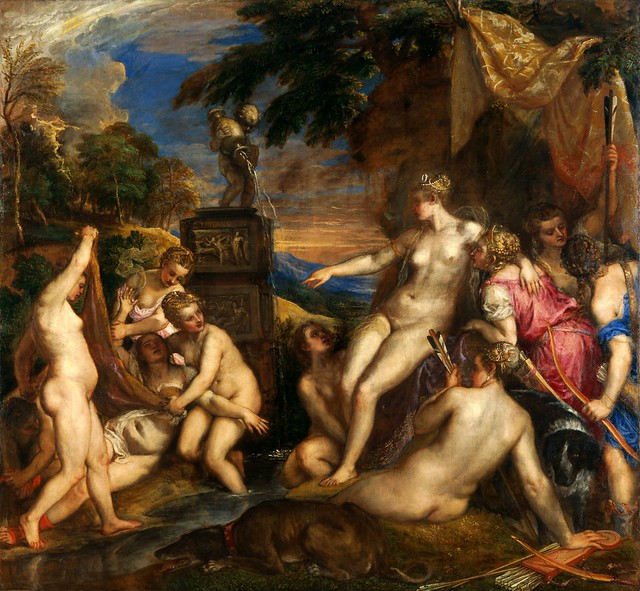 Titian (1490-1576) - 1556-59 Diana and Callisto (National Gallery, London, UK)