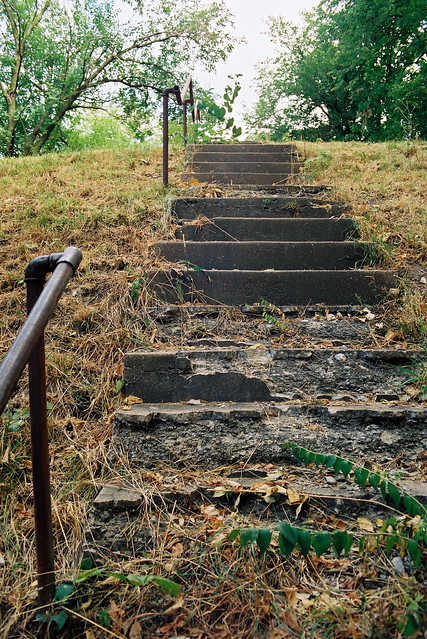 crumbling stair to nowhere