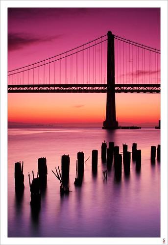 sanfrancisco bridge water sunrise dawn bay nikon baybridge d90 stephenbird