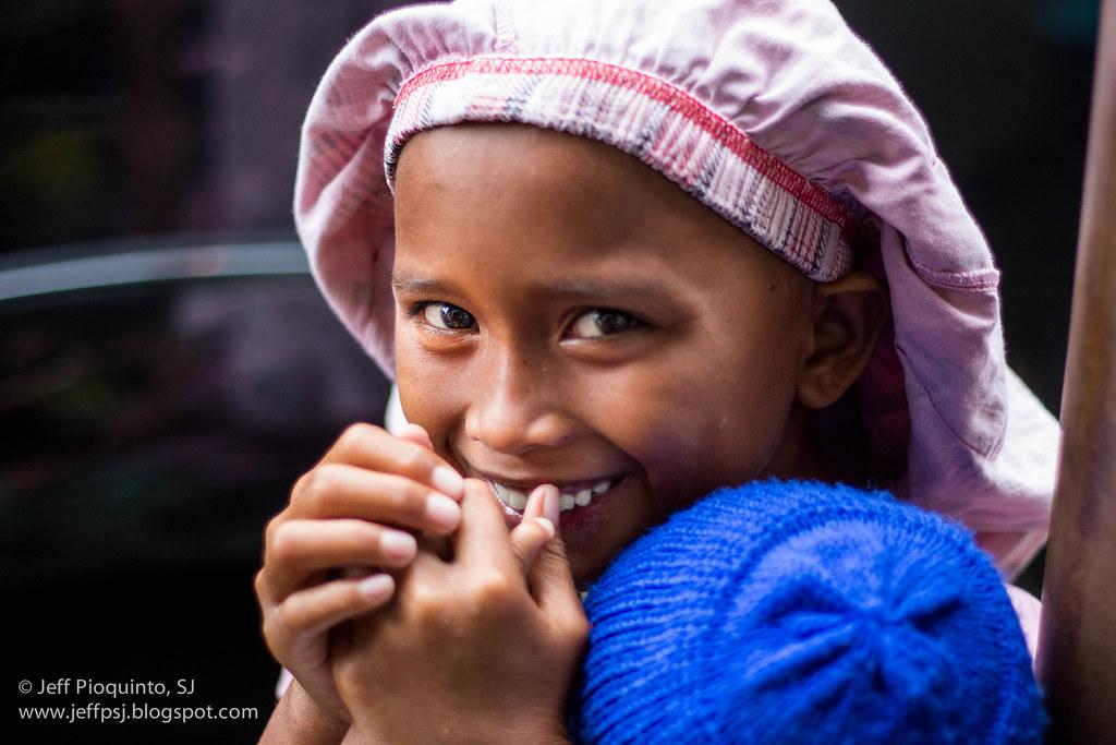 Badjao smile. Zamboanga City crisis