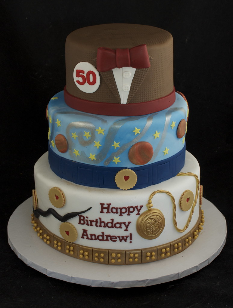 Amazing Doctor Who 50Th Birthday Cake Lots Of Doctor Who Details F Flickr Funny Birthday Cards Online Inifofree Goldxyz