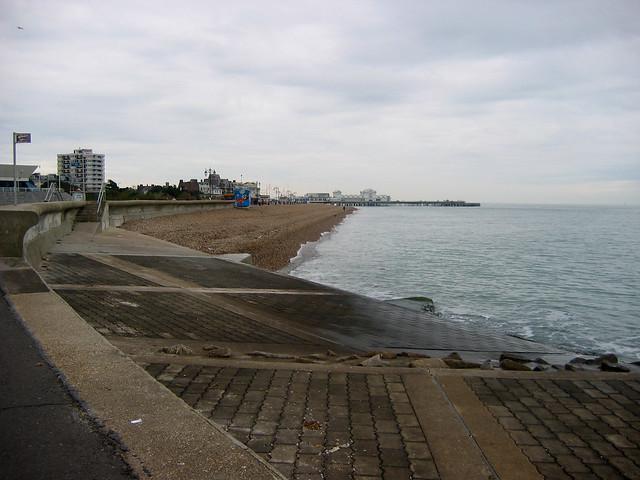 The beach at Southsea