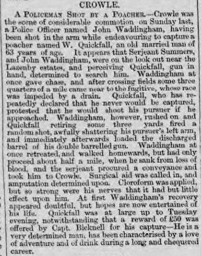 Hull Packet - Friday 15 June 1866 - Quickfall Shooting