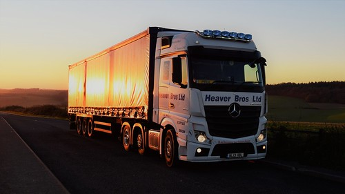 heaver wl13hbl mercedes actros 2545 bigspace mp4 truck lorry hgv sunset