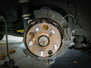 Rear Brake Shield Cut | by gold94corolla