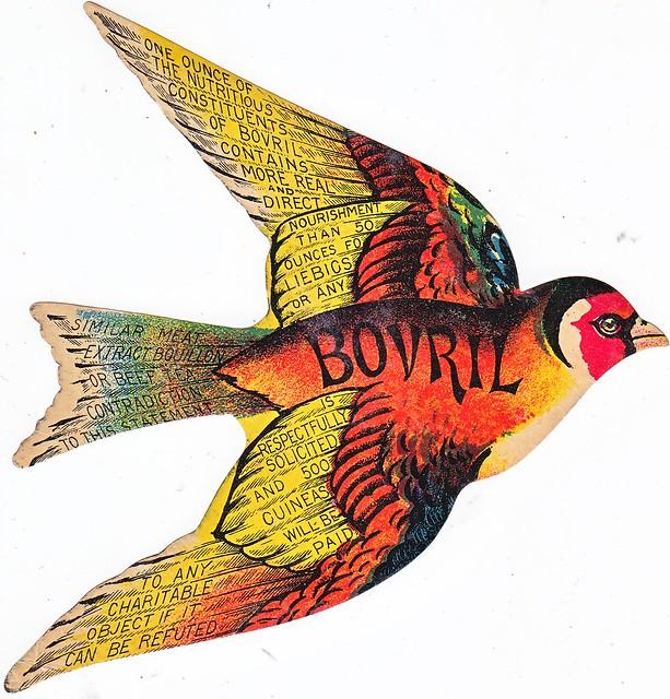 CHROMO BOVRIL FLYING BIRD WITH BOVRIL CLAIM