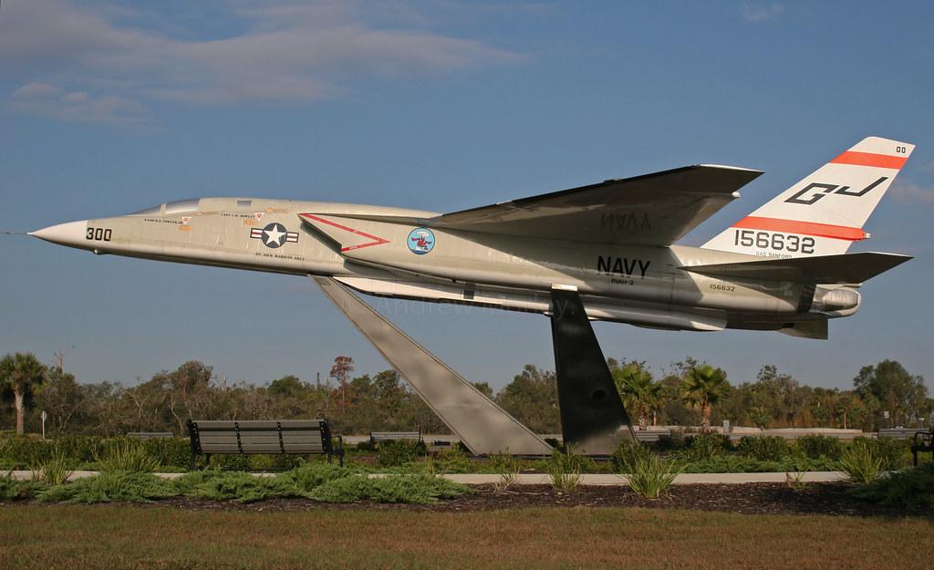 US Navy RA-5C Vigilante 156632 GJ-300 of RVAH-3 preserved at Sanford RAP in FL.