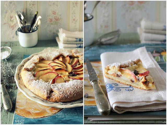 1-crostata rustica con ricotta gocce di cioccolato e mele