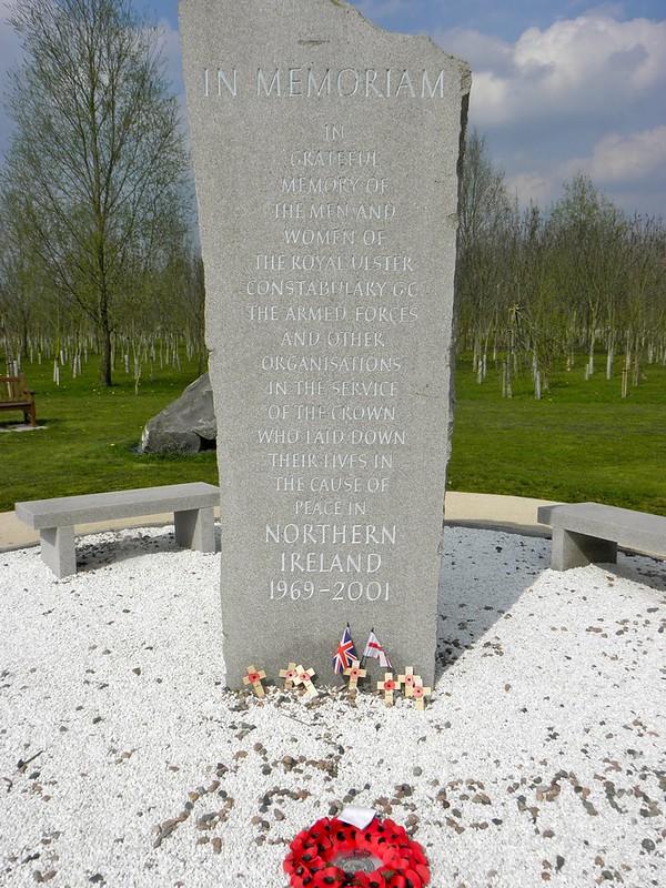 The Northern Ireland memorial at the National Memorial Arboretum