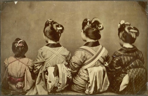 Different ways of tying the Obi (kimono belt), Japan. | by National Museum of Denmark