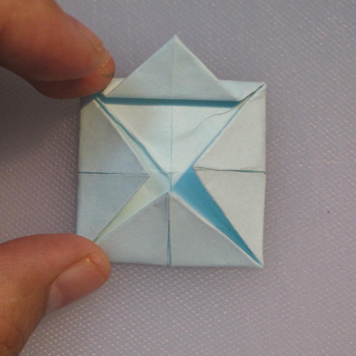 วิธีการพับกระดาษเป็นรูปโบว์ติดกล่องของขวัญ 008
