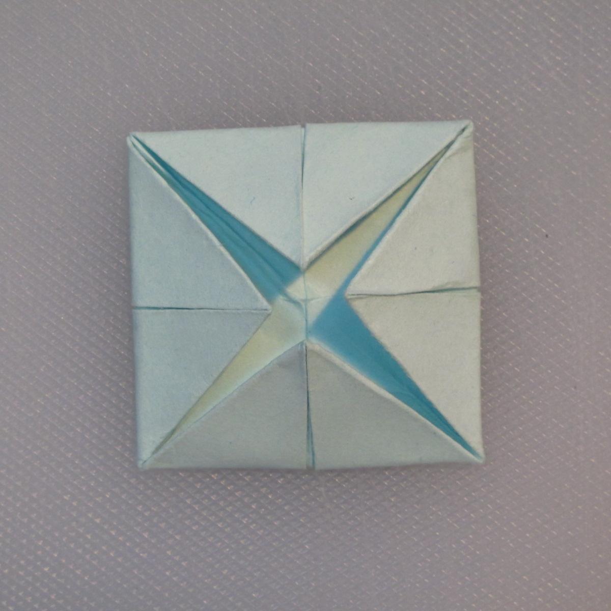 วิธีการพับกระดาษเป็นรูปโบว์ติดกล่องของขวัญ 007